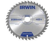 IRWIN IRW1897208 - Circular Saw Blade 235 x 30mm x 40T ATB
