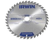 IRWIN IRW1897211 - Circular Saw Blade 250 x 30mm x 40T ATB