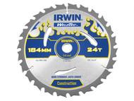 IRWIN IRW1897369 - Weldtec Circular Saw Blade 184 x 16mm x 24T ATB