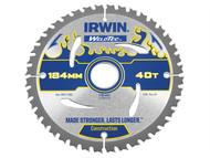 IRWIN IRW1897370 - Weldtec Circular Saw Blade 184 x 30mm x 40T ATB
