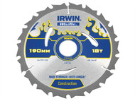 IRWIN IRW1897382 - Weldtec Circular Saw Blade 190 x 30mm x 18T ATB