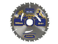 IRWIN IRW1897383 - Weldtec Circular Saw Blade 190 x 30mm x 24T ATB