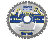 IRWIN IRW1897384 - Weldtec Circular Saw Blade 190 x 30mm x 40T ATB