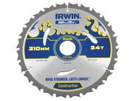 IRWIN IRW1897385 - Weldtec Circular Saw Blade 210 x 30mm x 24T ATB
