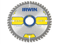IRWIN IRW1897438 - Multi Material Circular Saw Blade 165 x 30mm x 48T TCG/Neg
