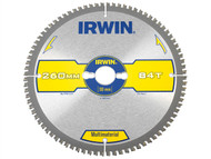IRWIN IRW1897445 - Multi Material Circular Saw Blade 260 x 30mm x 84T TCG/Neg