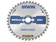 IRWIN IRW1897449 - Construction Circular Saw Blade 250 x 30mm x 40T ATB