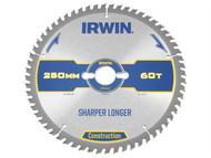 IRWIN IRW1897450 - Construction Circular Saw Blade 250 x 30mm x 60T ATB