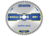 IRWIN IRW1897452 - Construction Circular Saw Blade 300 x 30mm x 60T ATB