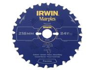 IRWIN IRW1897453 - Marples Circular Saw Blade 216 x 30mm x 24T ATB/Neg M