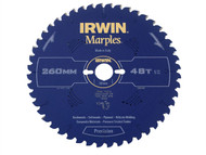IRWIN IRW1897462 - Marples Circular Saw Blade 260 x 30mm x 48T ATB/Neg M