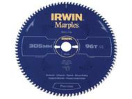 IRWIN IRW1897467 - Marples Circular Saw Blade 305 x 30mm x 96T ATB/Neg M