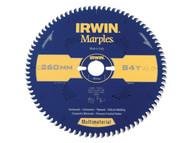 IRWIN IRW1897471 - Marples Circular Saw Blade 260 x 30mm x 84T TCG/Neg