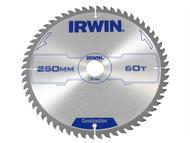 IRWIN IRW1907700 - Professional Circular Saw Blade 250 x 30mm x 60T - Wood