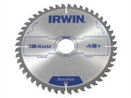 IRWIN IRW1907773 - Professional Circular Saw Blade 184 x 30mm x 48T - Aluminium