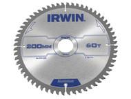IRWIN IRW1907774 - Professional Circular Saw Blade 200 x 30mm 60T - Aluminium