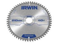 IRWIN IRW1907775 - Professional Circular Saw Blade 210 x 30mm x 60T - Aluminium