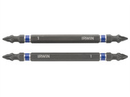 IRWIN IRW1923407 - Impact Double Ended Screwdriver Bits Pozi PZ1 100mm Pack of 2
