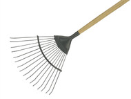 Kent & Stowe K/S70100261 - Long Handled Lawn and Leaf Rake Carbon Steel