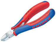 Knipex KPX7722115 - Electronic Diagonal Cut Pliers - Round Non Bevelled 115mm