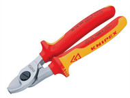Knipex KPX9516165 - Cable Shears VDE Certified Grip 165mm