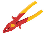 Knipex KPX986201 - Flat Nose Plastic Insulated Pliers 180mm