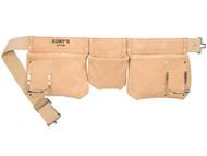 Kuny's KUNAP1300 - AP-1300 Carpenter's Apron 5 Pocket Suede Leather