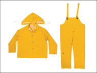 Kuny's KUNR101XL - R101 3-Piece Yellow 0.35mm PVC Rain Suit - XL