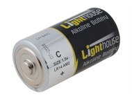 Lighthouse L/HBATC - Alkaline Batteries C LR14 6200mAh Pack of 2