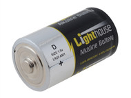 Lighthouse L/HBATD - Alkaline Batteries D LR20 14800mAh Pack of 2