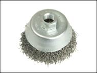Lessmann LES424367 - Cup Brush 80mm M14 x 0.30 Stainless Steel Wire