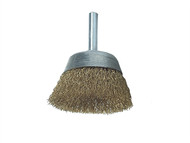 Lessmann LES43012607 - DIY Cup Brush With Shank 50mm x 0.25 Brass Wire