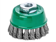 Lessmann LES486817 - Knot Cup Brush 100mm M14 x 25 x 0.50 Stainless Steel Wire