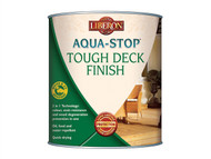 Liberon LIBASTDFBT25 - Aqua-Stop / Advanced Protection Tough Decking Finish Burmese Teak 2.5 Litre