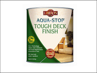 Liberon LIBASTDFBT5 - Aqua-Stop / Advanced Protection Tough Decking Finish Burmese Teak 5 Litre