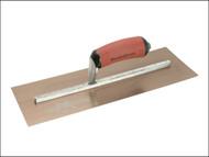 Marshalltown M/TMPB145GSD - MPB145GSD Gold Stainless Steel Pre-Worn Plasterers Trowel DuraSoft 14 x 5in