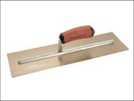 Marshalltown M/TMPB165GSD - MPB165GSD Gold Stainless Steel Pre-Worn Plasterers Trowel DuraSoft 16 x 5in
