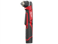 Milwaukee MILC12RAD2 - C12 RAD-202C Compact Right Angle Drill 12 Volt 2 x 2.0Ah Li-Ion