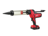 Milwaukee MILC18CG4002 - C18 PCG/400T Caulking Gun 400ml Transparent Tube 18 Volt 1 x 2.0Ah Li-Ion