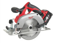 Milwaukee MILHD18CS4 - HD18 CS-402 165mm Circular Saw 18 Volt 2 x 4.0Ah Li-Ion