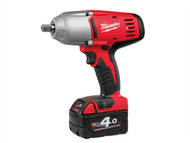 Milwaukee MILHD18HIW4 - HD18 HIW-402 Pin Indent 1/2in Impact Wrench 18 Volt 2 x 4.0Ah Li-Ion