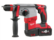Milwaukee MILHD18HX4 - M18 HD18 HX-402 SDS Plus 3 Mode Rotary Hammer 18 Volt 2 x 4.0Ah Li-Ion