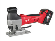 Milwaukee MILHD18JSB4 - M18 HD18 JSB-402 Body Grip Cordless Jigsaw 18 Volt 2 x 4.0Ah Li-Ion