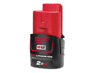 Milwaukee MILM12B2 - M12 B2 REDLITHIUM-ION Battery 12 Volt 2.0Ah Li-Ion