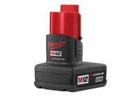 Milwaukee MILM12B3 - M12 BX REDLITHIUM-ION Battery 12 Volt 3.0Ah Li-Ion