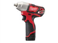 Milwaukee MILM12BIW382 - M12 BIW38-202C Compact 3/8in Impact Wrench 12 Volt 2 x 2.0Ah Li-Ion