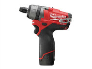 Milwaukee MILM12CD2F - M12 CD-202C Fuel Compact Screwdriver 12 Volt 2 x 2.0Ah Li-Ion