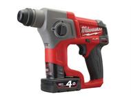 Milwaukee MILM12CH4F - M12 CH-402C Fuel SDS Hammer 12 Volt 2 x 4.0Ah Li-Ion