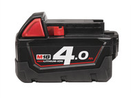 Milwaukee MILM18B4 - M18 B4 REDLITHIUM-ION Slide Battery Pack 18 Volt 4.0Ah Li-Ion
