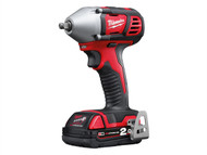 Milwaukee MILM18BIW382 - M18 BIW38-202C Compact 3/8in Impact Wrench 18 Volt 2 x 2.0Ah Li-Ion